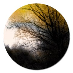 Tree Art Artistic Abstract Background Magnet 5  (Round)