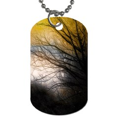 Tree Art Artistic Abstract Background Dog Tag (one Side)