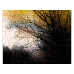 Tree Art Artistic Abstract Background Rectangular Jigsaw Puzzl