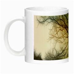 Tree Art Artistic Abstract Background Night Luminous Mugs