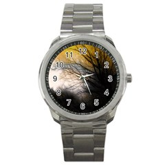 Tree Art Artistic Abstract Background Sport Metal Watch