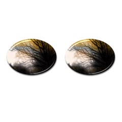 Tree Art Artistic Abstract Background Cufflinks (Oval)