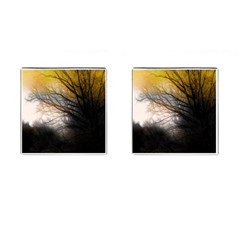 Tree Art Artistic Abstract Background Cufflinks (square)