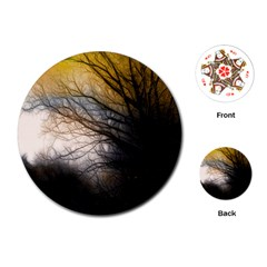 Tree Art Artistic Abstract Background Playing Cards (Round)