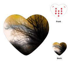 Tree Art Artistic Abstract Background Playing Cards (Heart)