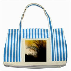 Tree Art Artistic Abstract Background Striped Blue Tote Bag