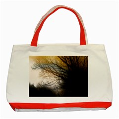 Tree Art Artistic Abstract Background Classic Tote Bag (Red)