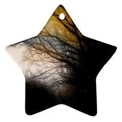 Tree Art Artistic Abstract Background Star Ornament (two Sides)