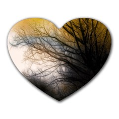 Tree Art Artistic Abstract Background Heart Mousepads