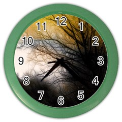 Tree Art Artistic Abstract Background Color Wall Clocks