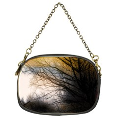 Tree Art Artistic Abstract Background Chain Purses (One Side)