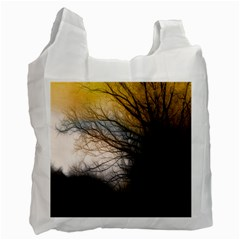Tree Art Artistic Abstract Background Recycle Bag (One Side)