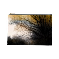 Tree Art Artistic Abstract Background Cosmetic Bag (Large)