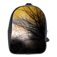 Tree Art Artistic Abstract Background School Bags(Large)