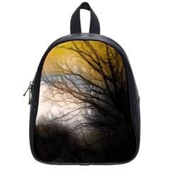 Tree Art Artistic Abstract Background School Bags (small)
