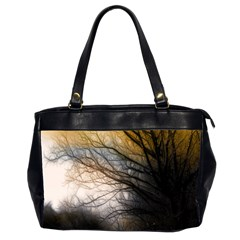 Tree Art Artistic Abstract Background Office Handbags (2 Sides)