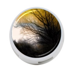 Tree Art Artistic Abstract Background 4-Port USB Hub (One Side)