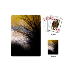 Tree Art Artistic Abstract Background Playing Cards (Mini)