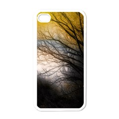 Tree Art Artistic Abstract Background Apple iPhone 4 Case (White)