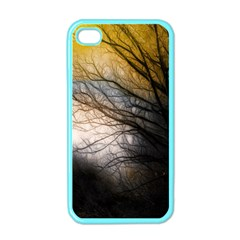 Tree Art Artistic Abstract Background Apple Iphone 4 Case (color)