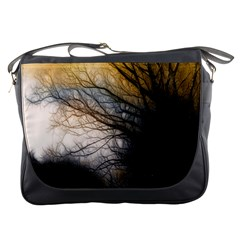 Tree Art Artistic Abstract Background Messenger Bags