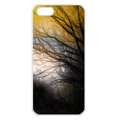 Tree Art Artistic Abstract Background Apple iPhone 5 Seamless Case (White)