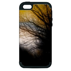 Tree Art Artistic Abstract Background Apple iPhone 5 Hardshell Case (PC+Silicone)