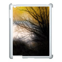 Tree Art Artistic Abstract Background Apple iPad 3/4 Case (White)