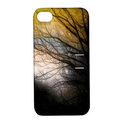 Tree Art Artistic Abstract Background Apple iPhone 4/4S Hardshell Case with Stand