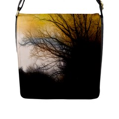 Tree Art Artistic Abstract Background Flap Messenger Bag (l)