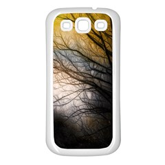 Tree Art Artistic Abstract Background Samsung Galaxy S3 Back Case (white)