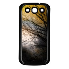 Tree Art Artistic Abstract Background Samsung Galaxy S3 Back Case (black)