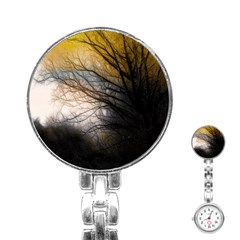 Tree Art Artistic Abstract Background Stainless Steel Nurses Watch