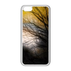 Tree Art Artistic Abstract Background Apple iPhone 5C Seamless Case (White)