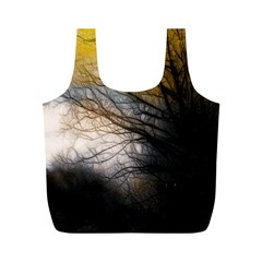 Tree Art Artistic Abstract Background Full Print Recycle Bags (m)