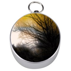 Tree Art Artistic Abstract Background Silver Compasses