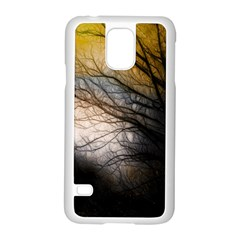 Tree Art Artistic Abstract Background Samsung Galaxy S5 Case (white)