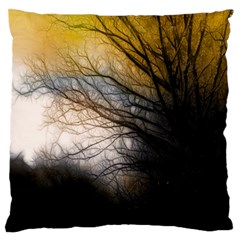 Tree Art Artistic Abstract Background Large Flano Cushion Case (One Side)