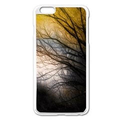 Tree Art Artistic Abstract Background Apple Iphone 6 Plus/6s Plus Enamel White Case