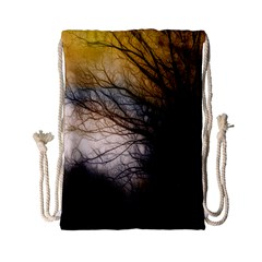Tree Art Artistic Abstract Background Drawstring Bag (Small)