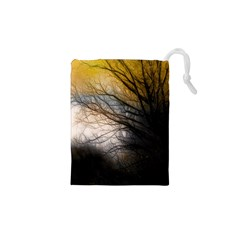 Tree Art Artistic Abstract Background Drawstring Pouches (xs)