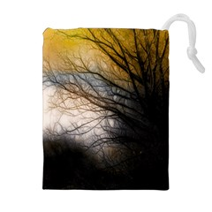 Tree Art Artistic Abstract Background Drawstring Pouches (Extra Large)