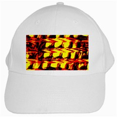 Yellow Seamless Abstract Brick Background White Cap