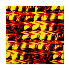 Yellow Seamless Abstract Brick Background Tile Coasters