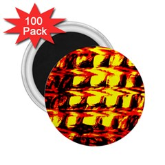 Yellow Seamless Abstract Brick Background 2.25  Magnets (100 pack)