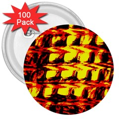 Yellow Seamless Abstract Brick Background 3  Buttons (100 Pack)