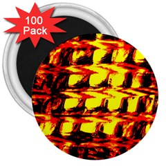 Yellow Seamless Abstract Brick Background 3  Magnets (100 pack)