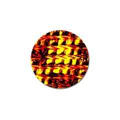 Yellow Seamless Abstract Brick Background Golf Ball Marker (10 pack)
