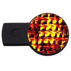 Yellow Seamless Abstract Brick Background Usb Flash Drive Round (2 Gb)