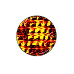 Yellow Seamless Abstract Brick Background Hat Clip Ball Marker (4 pack)
